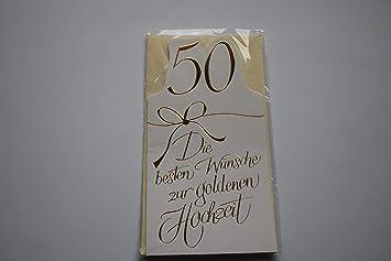 Goldene Hochzeit Glückwunschkarte Geschenkkarte 50 Die