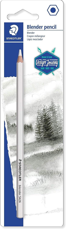 Staedtler Colorless Blender Pencil, Wax Base Blending Pencil for Pastels, Graphite, Charcoal, artist blender, 5426BLBK-C