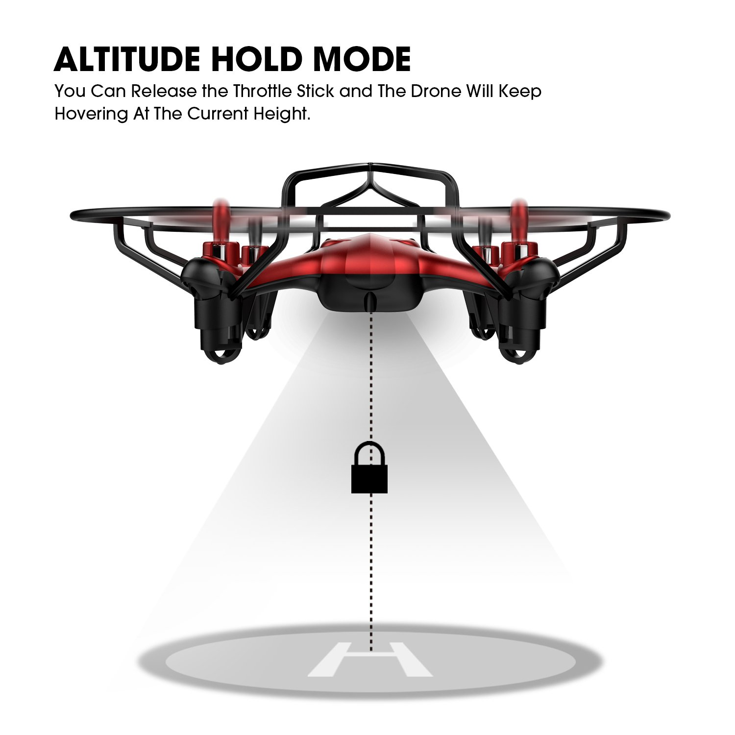 TEC.BEAN Mini Drone for Beginners Hovering Quadcopter with Altitude Hold Mode One Key Take Off Landing Return Home Entry Level for Kids by TEC.BEAN (Image #4)