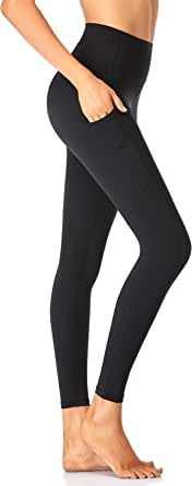 Leggings For Women Butt Lift With 2 Pockets High Waisted Tummy Control Flattering Butt Lifting Not See Through Squat Proof