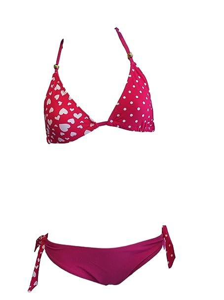 Las niñas Pink Heart Bikini/bañador. Las edades de 7-16 años (