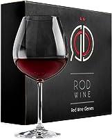 ROD Wine Juego de Copas de Vino Tinto - Vasos de Cristal en Titanio sin Plomo