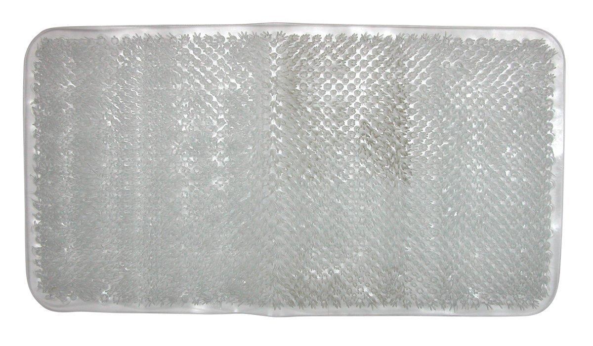 Amazon.com: Sultan\'s Linens Vinyl Grass Bath Mat, Clear: Home & Kitchen