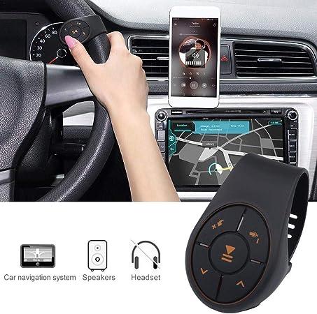 WXGY Bluetooth sans Fil du Volant de Voiture Bouton avec Bracelet Contr/ôleur et R/écepteur du Bluetooth pour Voiture V/élo Moto