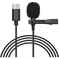 Tomshin Microfone profissional de lapela K05 Mic de lapela omnidirecional com microfone de gravação de redução de ruído…