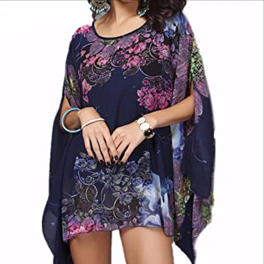 e79bca7f2b961 Image Unavailable. Image not available for. Color: Beach Cover up Floral  Romantic Swimwear Ladies Pareo Beach Cape Sun Bath ...