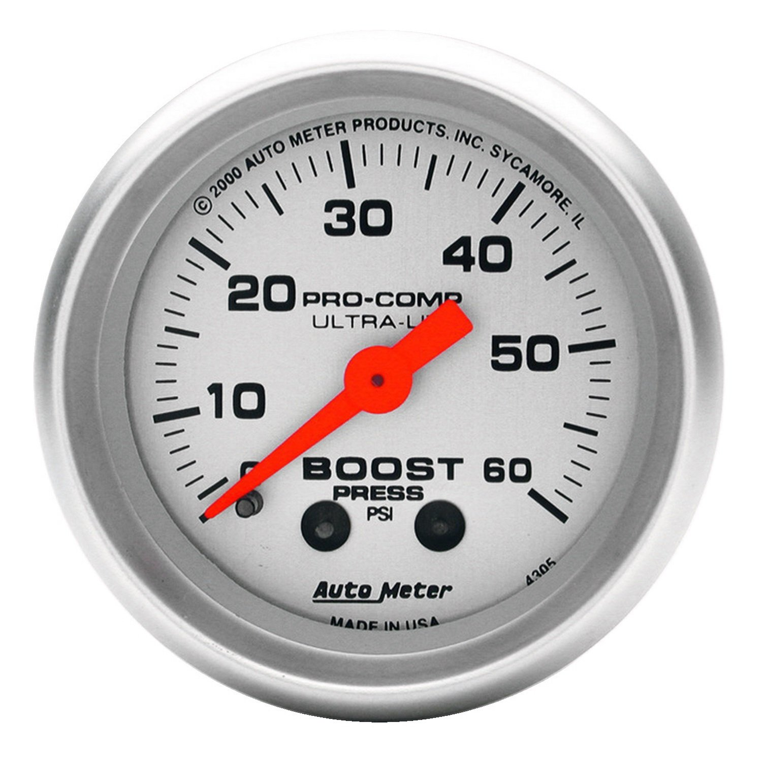 Amazon.com: Auto Meter 4305 Ultra-Lite Mechanical Boost Gauge: Automotive