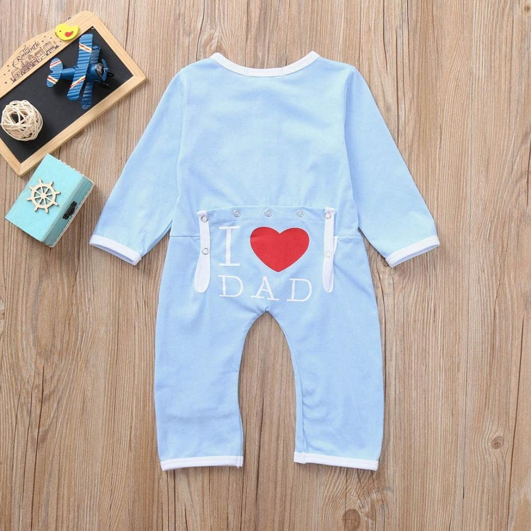 Adorable Toddler Baby Girls Boys Letter Print RED Heart in Ass Button Romper Jumpsuit Cute Outfits