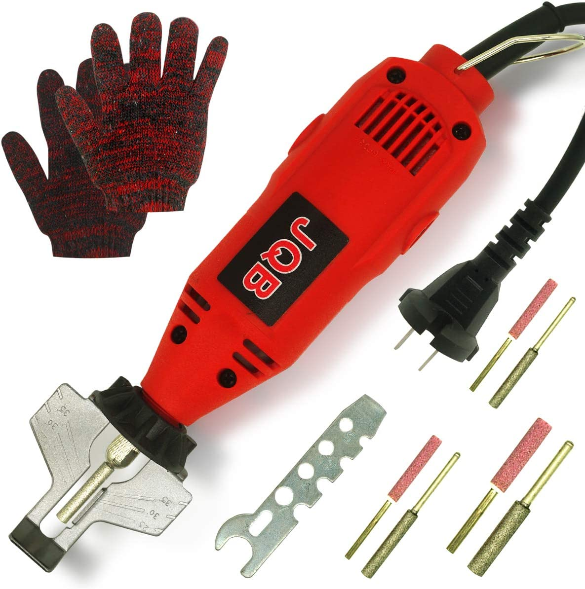 MaiDa Electric Chainsaw Sharpener Kit, 110 Volts Portable Handheld Universal Chain Teeth Sharpening Tool for Chainsaws, Extra 3 Diamond Bits