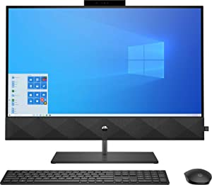 HP Pavilion 27 Touch Desktop 512GB SSD Win 10 Pro (Intel Core i7-10700K CPU 3.80GHz Turbo Boost to 5.10GHz, 16 GB RAM, 512 GB SSD, 27-inch FHD Touchscreen, Win 10 Pro) PC Computer All-in-One Black