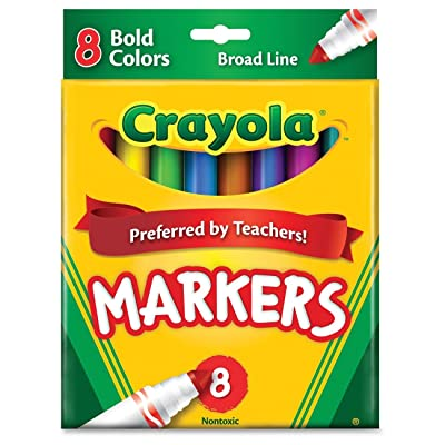 Crayola 8ct Broad Markers Bold: Toys & Games