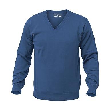 Navigare Maglione Uomo Lana Taglie Forti Classic Line Misto Merinos (Scollo  V. Cobalto Scuro 351,7XL / 64) Amazon.it Abbigliamento