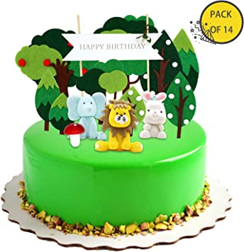 Kirakira Kuchendekoration Waldkuchendeko Geburtstag Tortendekoration Taufe Torten Deko Kindergeburtstag Deko Mädchen Junge Geburtstag