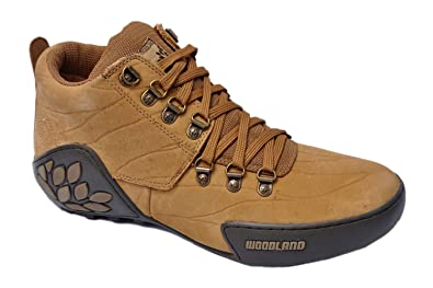 Woodland Men's Camel Leather Casual Shoes - 8UK
