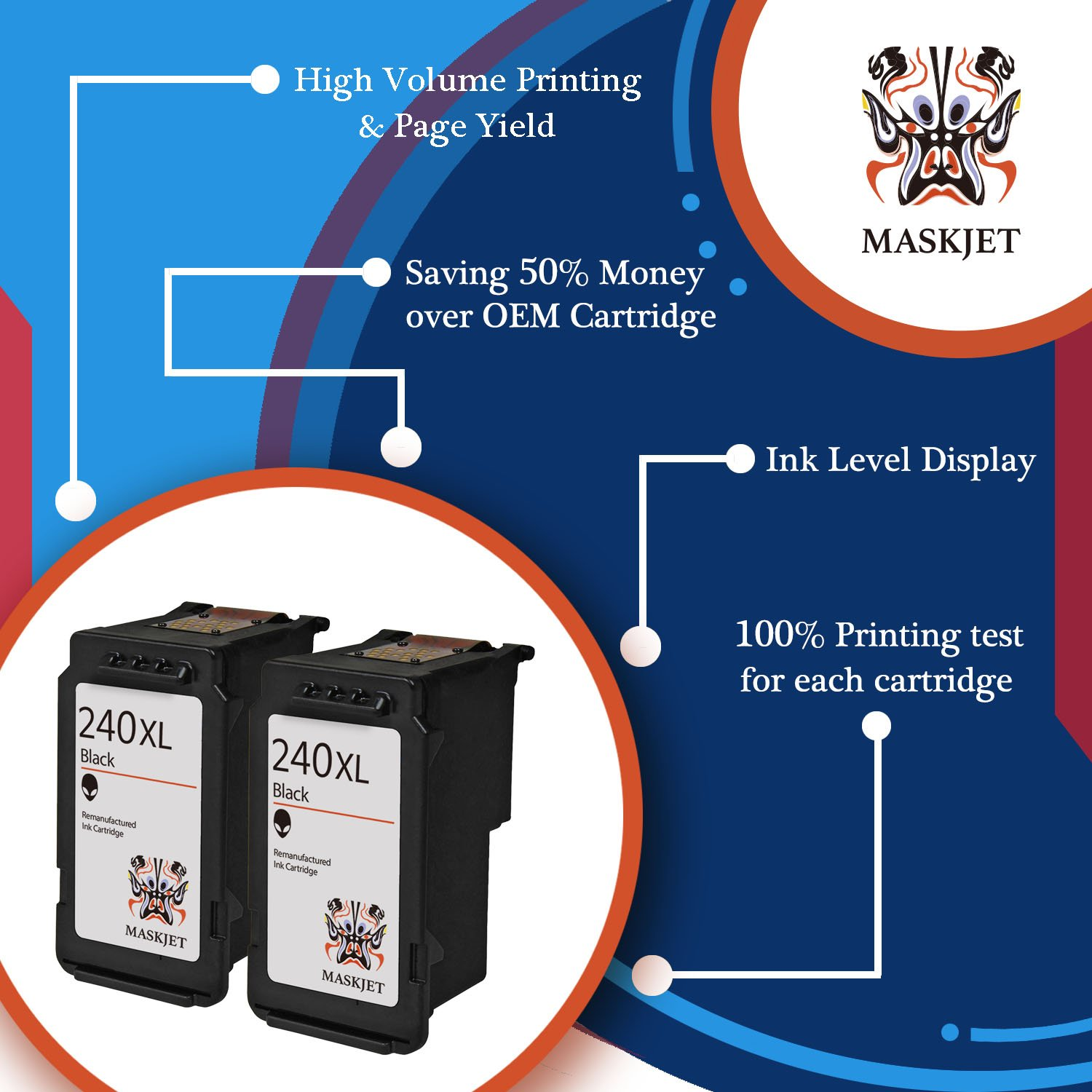 Maskjet Remanufactured Canon Pg 240 Xl Ink Cartridge Wiring Diagram Cannon Mx459 Fax High Yield For Pixma Mg2120 Mg2220 Mg3120 Mg3220 Mg3520 Mg3620 Mg4120 Mg4220 Mx372