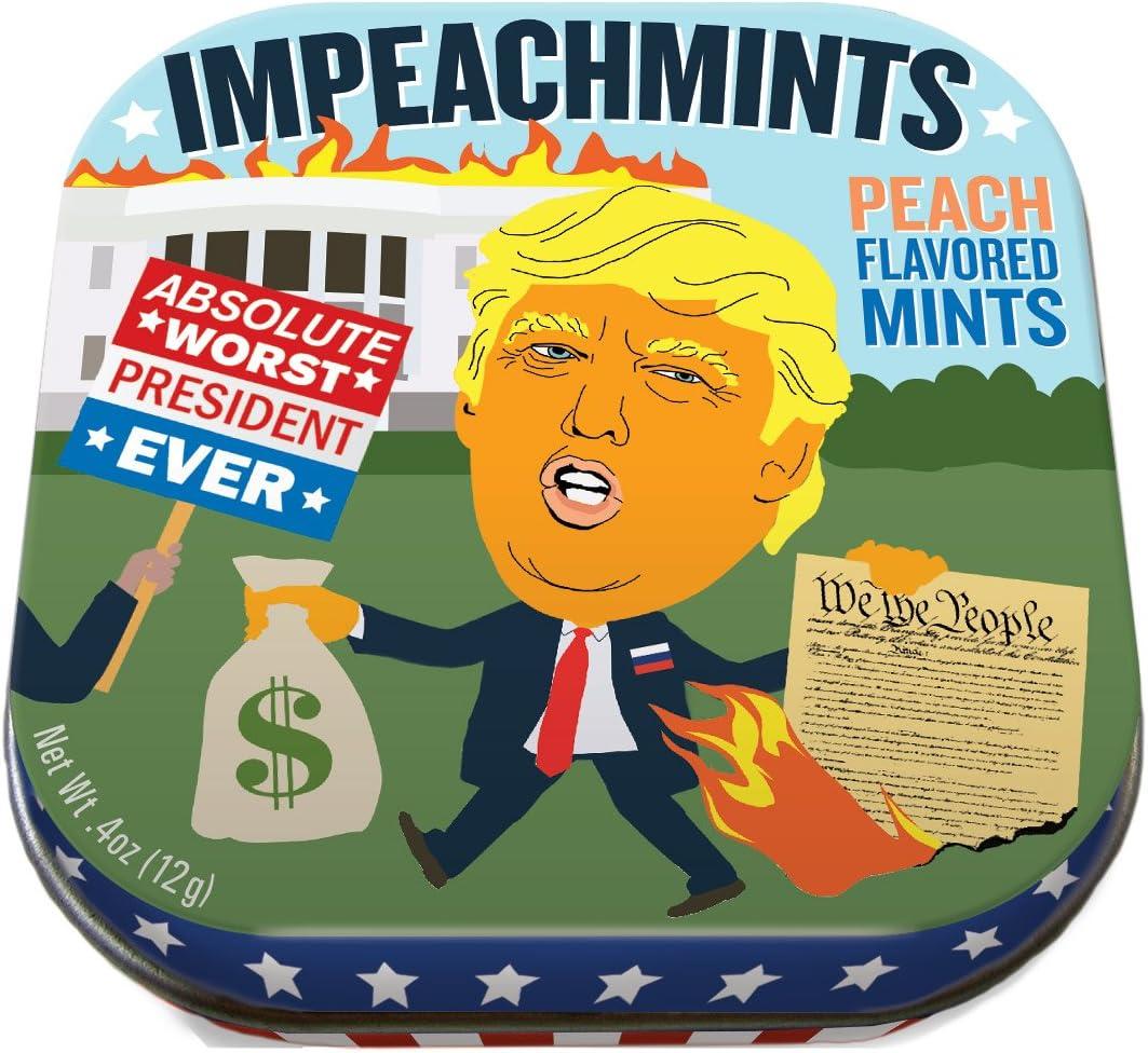 The Unemployed Philosophers Guild Trump ImpeachMints Mints - 1 Small Tin 1.75 x 1.75
