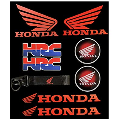 LLAP Sticker for Honda HRC Keychain for CBR Honda Wings Decals Set (9packs): Automotive