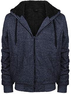 0046efbcb45b vkwear Men s Athletic Soft Sherpa Lined Fleece Zip Up Hoodie Sweater Jacket