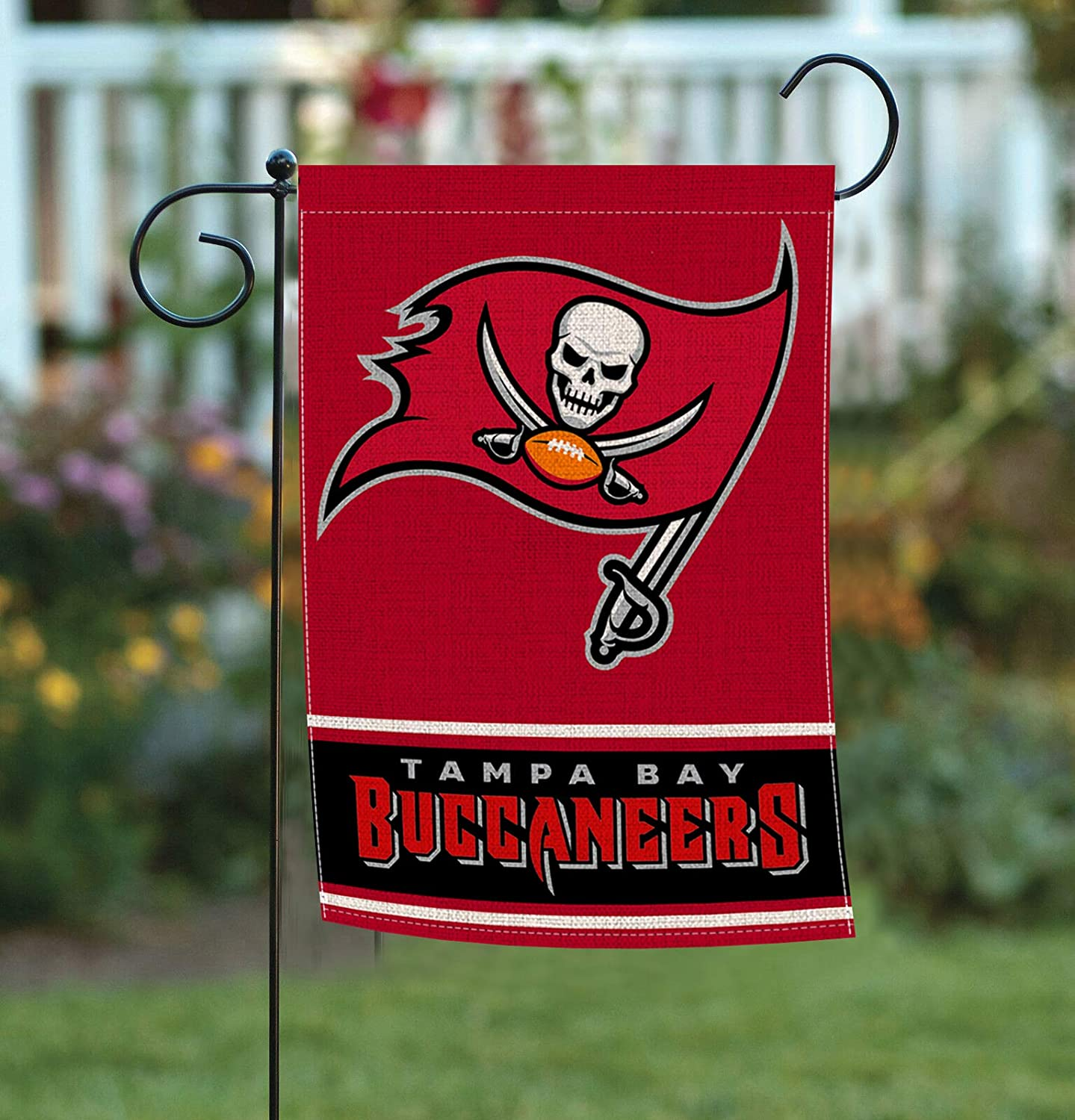 Garden Flags Double Sided 12.5 x 18 Inch, American Football Teams Pattern House Yard Sports Burlap Flags Decoration for Indoor Outdoor AG-36