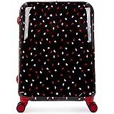 Lulu Guinness Hardside Spinner Suitcase, 69 cm, Black