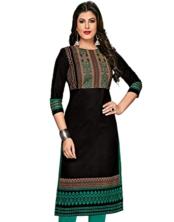 Jevi Prints Women's Unstitched Kurti Material Dress Material at amazon