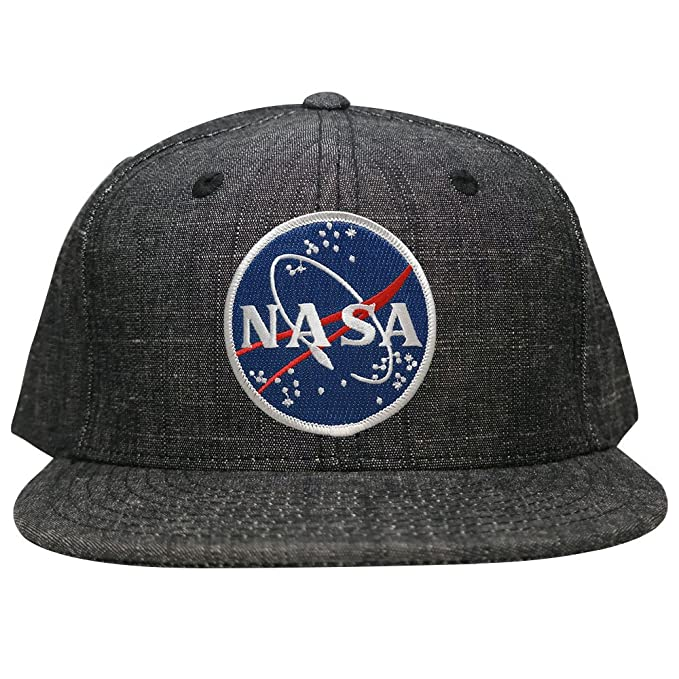 Washed Denim Blue NASA Meatball Space Logo Patch Snapback Cap - BLK ... 4e05d51773e1