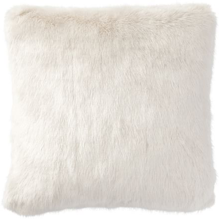"Faux Fur Pillow Cover, 18"", Fawn 