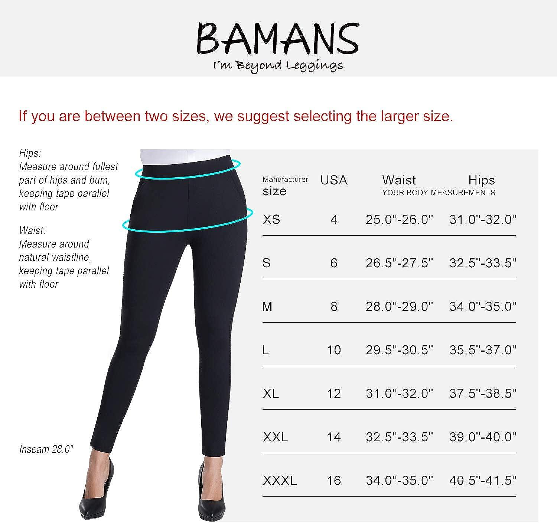 Amazon.com: Bamans pantalones de yoga ajustados con control ...