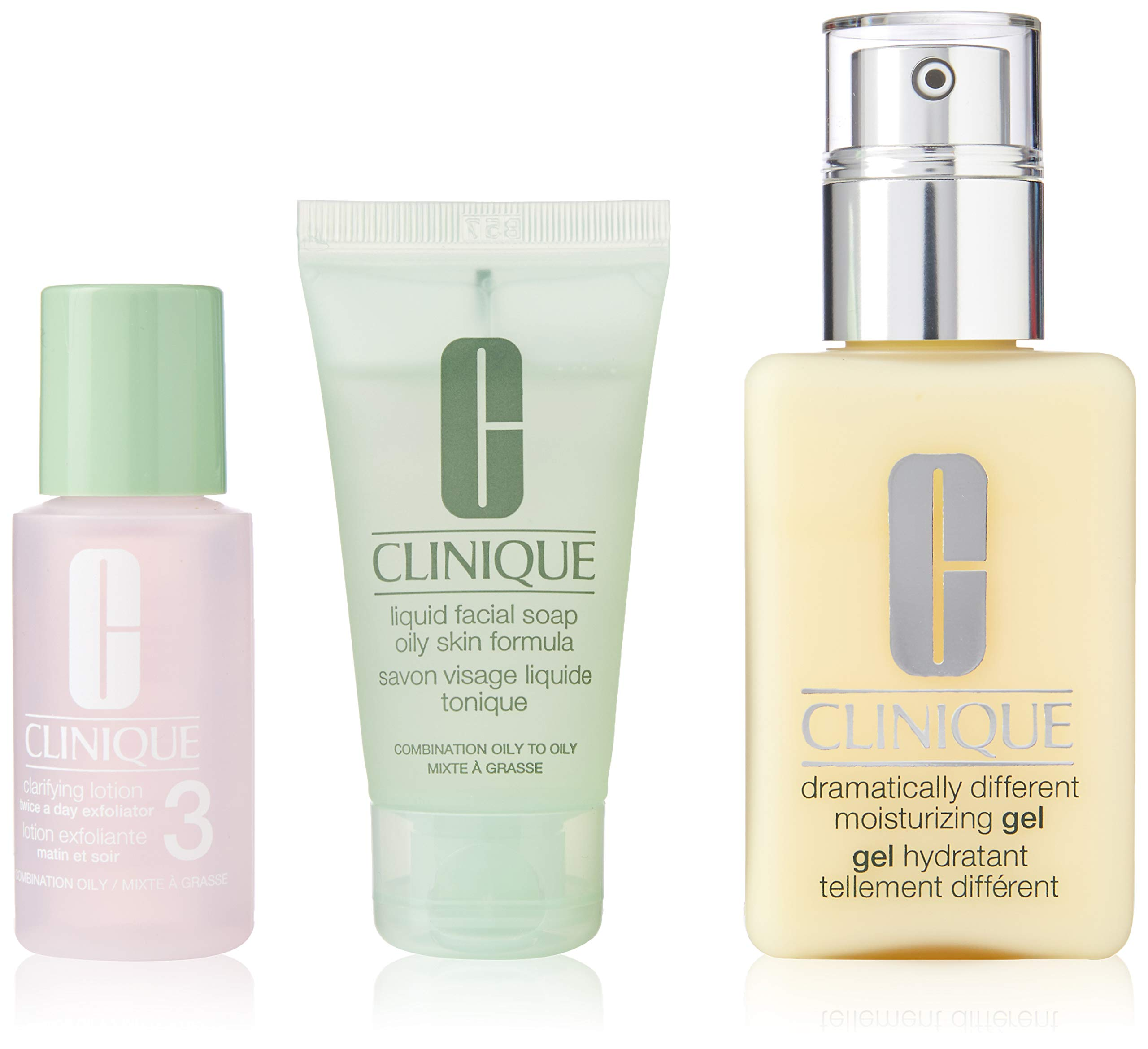 Clinique 3 Piece 3 Step Skin Care Introduction Kit for Unisex, Combination Oily Skin Type by Clinique