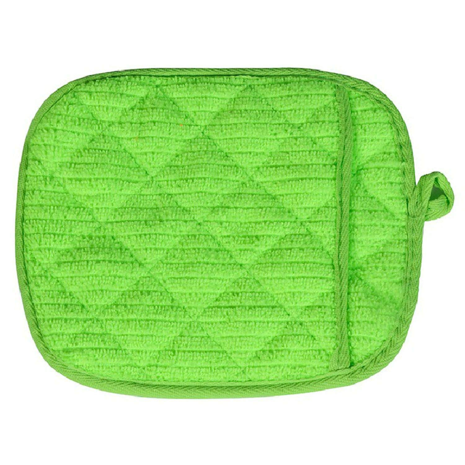 start-imagine Oven Mitts 1 Pcs Cute Kitchen Supplies Cotton Thick Microwave Oven Gloves High-Temperature Insulation Gloves,Green