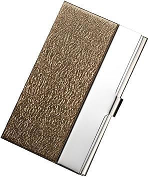 Billetera Tarjetero Metalico Hombre RFID Tarjeteros Mujer Tarjetas Credito De Visita Marca Caja del Paquete del Sostenedor De La Tarjeta (Dorado, 9.6cm(L)✕6.5cm(W)✕1.3cm(H)): Amazon.es: Equipaje