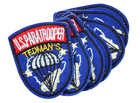 USA paratrooper sewing patches, Military style patch 7x6cm, sewing
