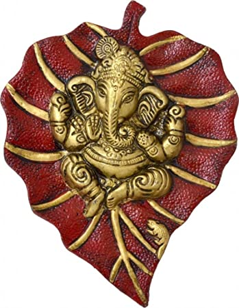Buy Rajkruti White Metal Ganesha Spiritual Ganesh Idol Wall