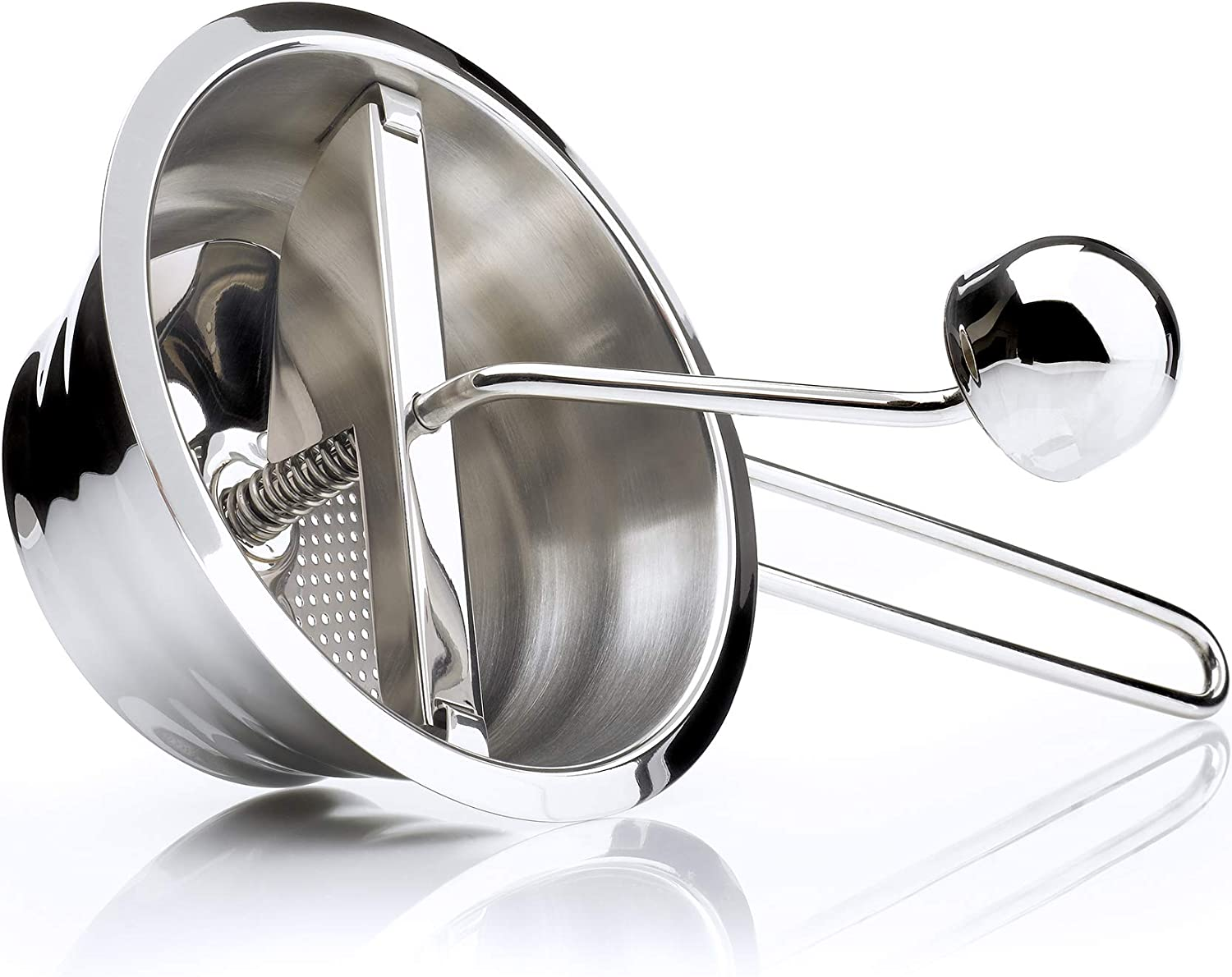 Kilo HA49 Small Purée Mill/Mouli, for Making Homemade Baby Food and Puree Vegetable for Soups-Stainless-Steel. 13cm Diameter