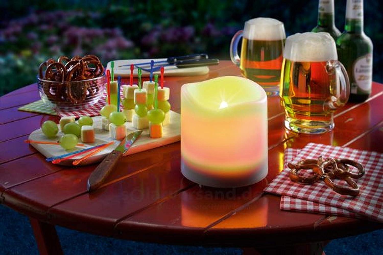 Solar Kerze 100x150mm LED Solarleuchte Garten Deko Kerzenleuchte esotec 102234