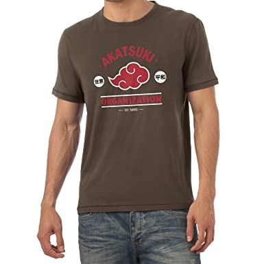 Texlab Akatsuki Organization - Herren T-Shirt, Größe S, Braun
