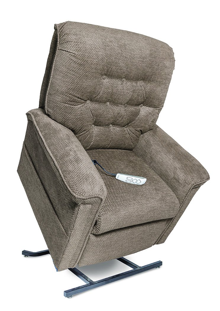 Pride LC-558M (Medium) Heritage Infinite-Position Lift Chair with Inside Delivery and Setup Option (Cloud 9 Stone, Inside Delivery and Setup)