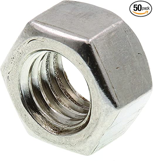 50-Pack 1//4 in.-20 Prime-Line 9073280 Finished Hex Nuts Grade 18-8 Stainless Steel
