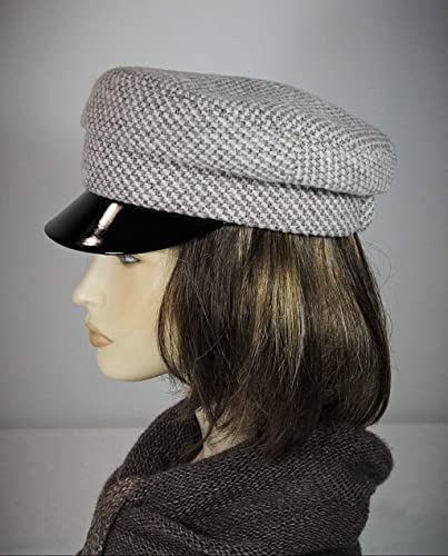 888bddf0 Image Unavailable. Image not available for. Color: Baker Boy Hats for  Ladies, Breton Hat, Mariner Breton Cap, John Lennon Cap