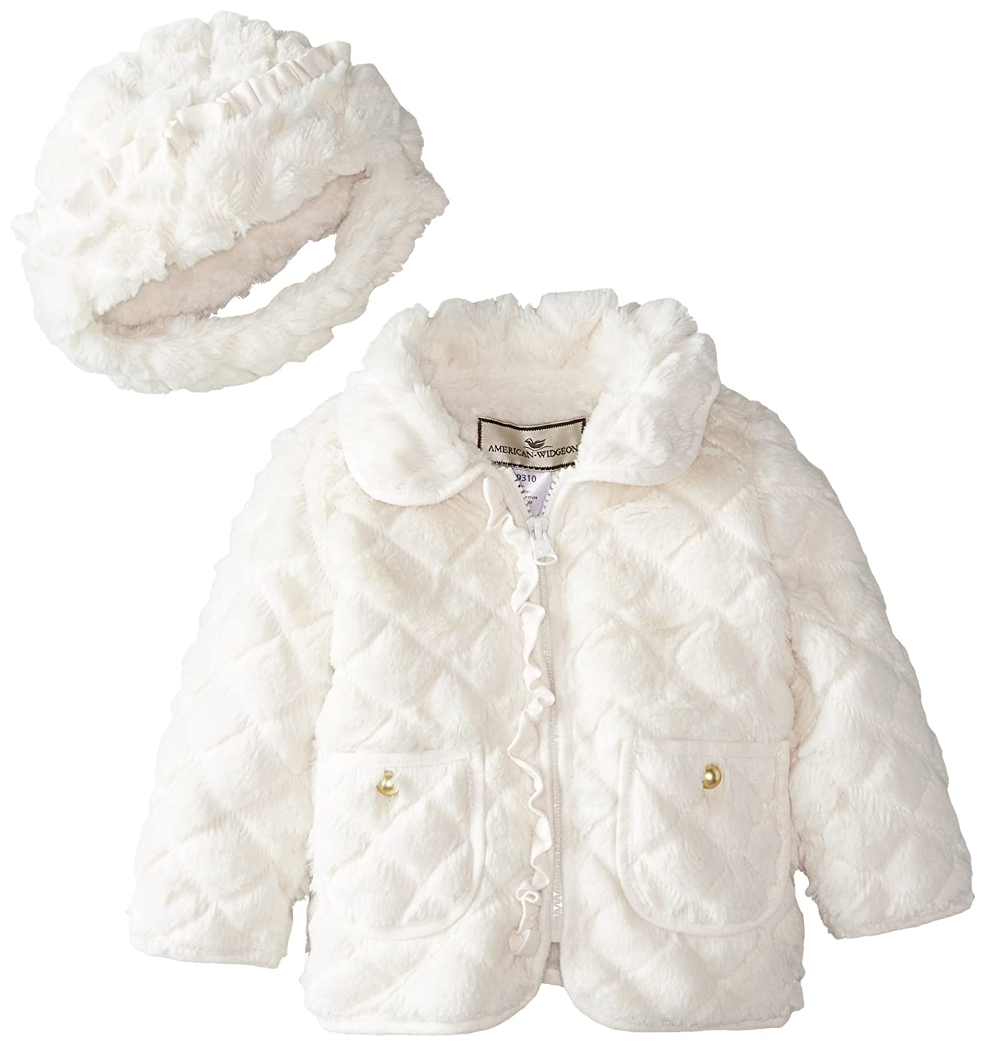 91f82354d Amazon.com  Widgeon Baby Girls  Quilted Jacket with Suede Ruffles ...