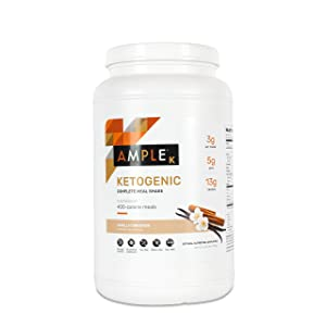 Ketogenic Meal Replacement Shake with only 3g Net Carbs, 30 Servings, Bulk Canister, Made with Natural Real Food Ingredients. Ketogenic Formula
