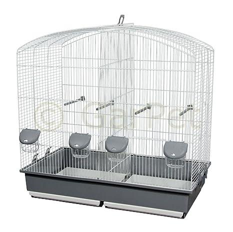 Pájaro jaula doble corte Bar separador separador Cría de rejilla ...