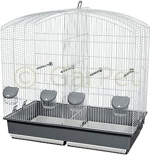 Pájaro jaula doble corte Bar separador separador Cría de