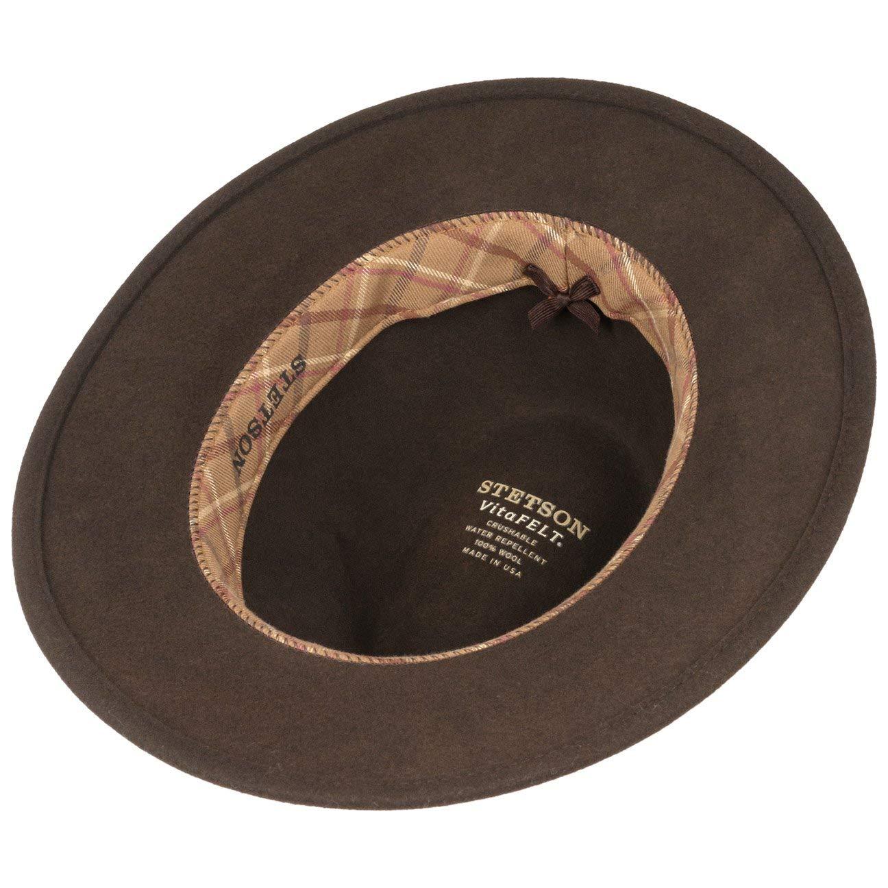 Stetson Sombrero Leather Trim VitaFelt Hombre  e70c3e3bdfc8