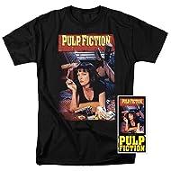 Popfunk Pulp Fiction Movie Uma Thurman T Shirt & Exclusive Stickers