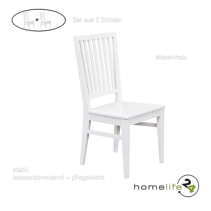 Echt Set Holz Stühle H24living Holzstühle Natur Design Küchen Esszimmerstühle Doppelpack Essstühle Produkt 2er Landhaus Massiv Stil Aus mn0vN8w