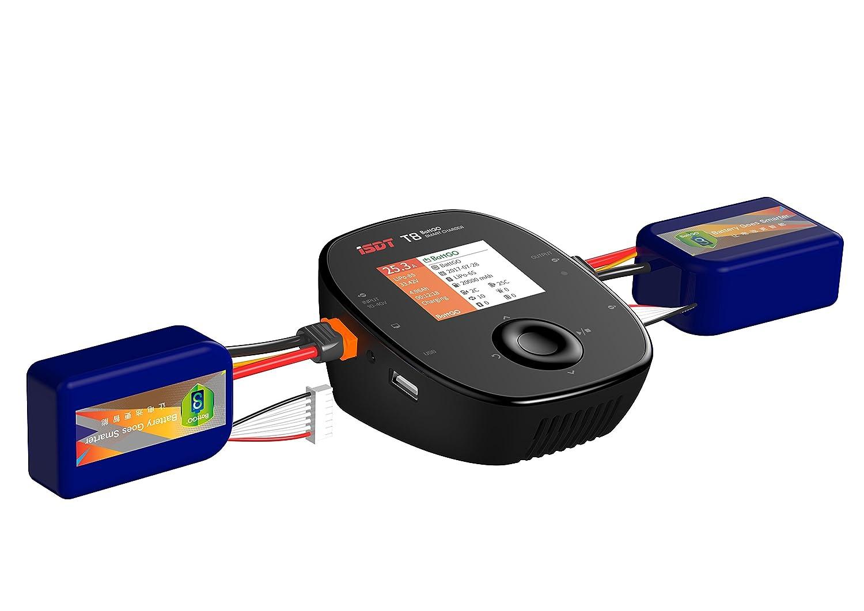 Balance Charger Discharger 30A 1000W AC//DC 2-8S LCD Display Digital Smart Battery Balance Charger Li-Po Li-Hv Li-Ion Li-Fe NiMH Ni-Cd Pb ISDT T8 Battgo Lipo Battery Charger//Discharger