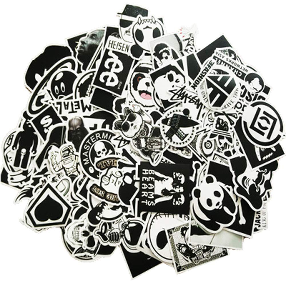 Casque Moto Etitulaire Autocollant Voiture,Lot de 50 Graffiti Autocollant en Vinyle Stickers Autocollant pour Voiture,Moto,Mac,Enfant,Ordinateur Portable,V/élo,Valise,Auto,Skate,Skateboard,Gquitaire