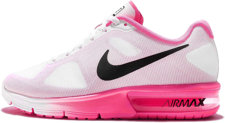 Nike Wmns Air MAX Sequent, Zapatillas de Running para Mujer, Blanco (Blanco (White/Black-Pink Blast), 42 EU: Amazon.es: Zapatos y complementos