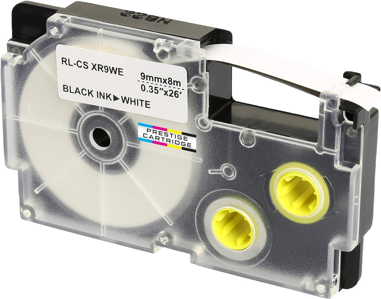 DRUCKER SCHRIFTBAND KASSETTE 9mm BLAU-weiss für CASIO KL-200E
